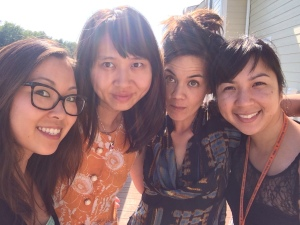 (left to right) Eugenia Leigh, Sally Wen Mao, Michelle Chan Brown and Cathy Linh Che are the Honey Badger Don't Give a B**k Tour!